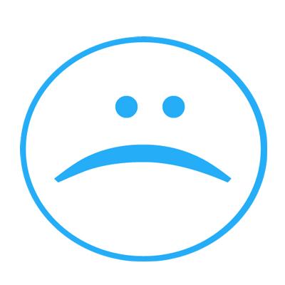 Unhappy face